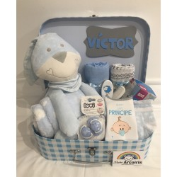 Canastilla bebé personalizada maleta XXL