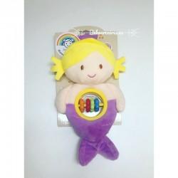 Tarta de pañales personalizada sirenita lila