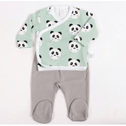 Conjunto primera puesta recién nacido panda