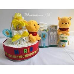 "Tarta pañales ""Winnie The pooh"" azul"