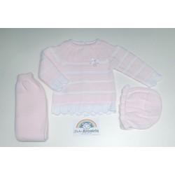 Primera puesta bebé lana invierno