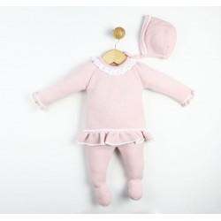 """Conjunto lana rosa  """"bonita"""""""