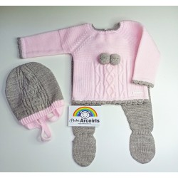Conjunto lana de 3 piezas...