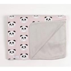 Manta invierno recién nacido a juego Panda rosa