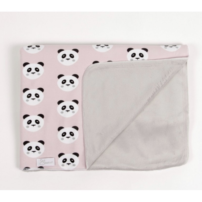 Beltin beltin arrullo Manta invierno recién nacido a juego Panda rosa