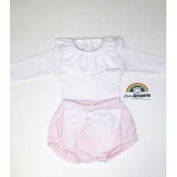 Conjunto bebé niña rosa...