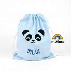 Petate infantil personalizado Panda azul