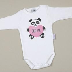 Body y chupete personalizados panda