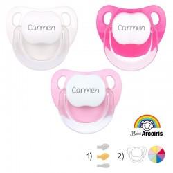 Pack de tres chupetes personalizados para bebés