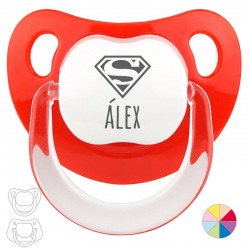 Chupete baby rojo superman