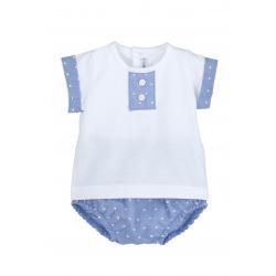 Camiseta y pololo bebé niño