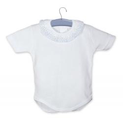 Body bebé cuello puntilla m/c
