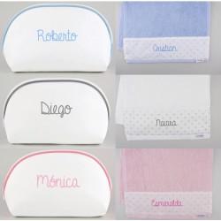 Neceser y toalla personalizados