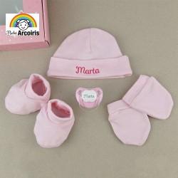 Caja regalo bebé set recién nacido personalizado