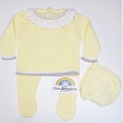 Conjunto bebé hilo amarillo