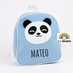 Mochila infantil personalizada Panda azul