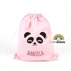 Petate infantil personalizado Panda rosa