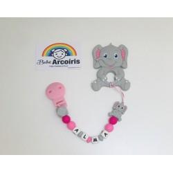 Chupetero personalizado elefante