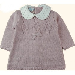 Vestido bebé tricot rosado