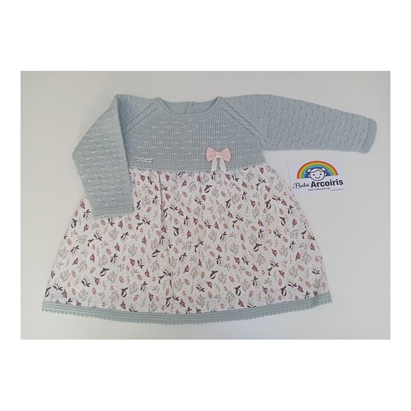 Vestido bebé lana niña