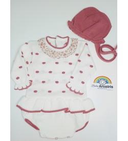 Conjunto pelele bebé lana