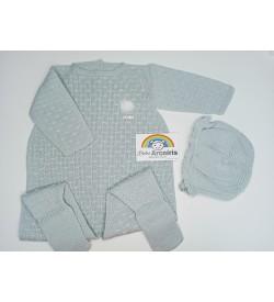 Conjunto bebé pelele lana