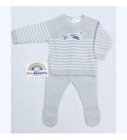 Primera puesta hilo algodón bebé
